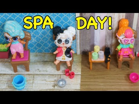 LOL SURPRISE DOLLS Have A Spa Day With BARBIE!