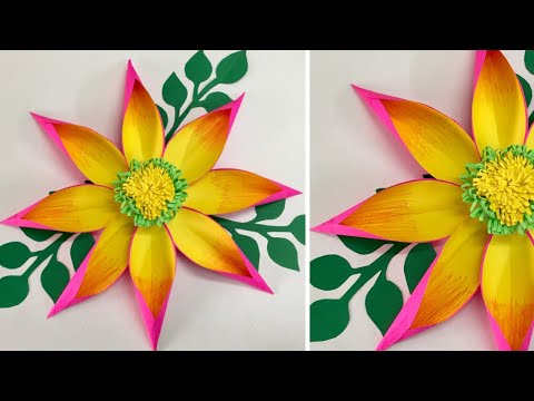 DIY Giant Paper Flowers | Paper Flowers Wall hanging | Wall Hanging