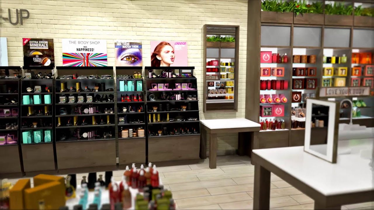 Don Franklin London >> The Body Shop Retail Animation | Westfield London - YouTube