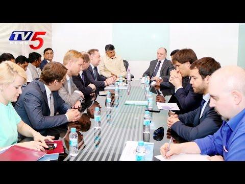 Delegates From Chelyabinsk Region of Russia Met AP CM Chandrababu | TV5 News