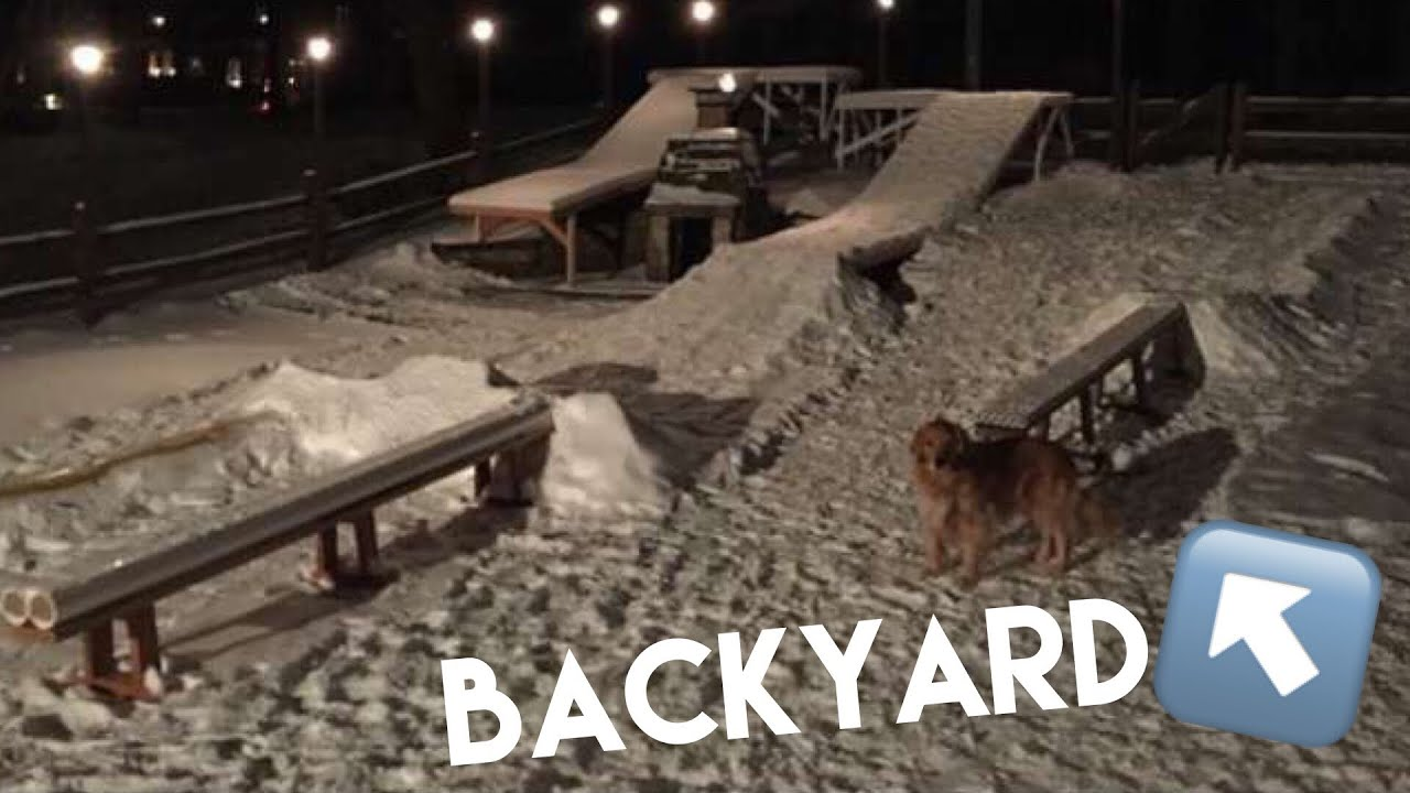 how to build a backyard snowboarding terrain park youtube