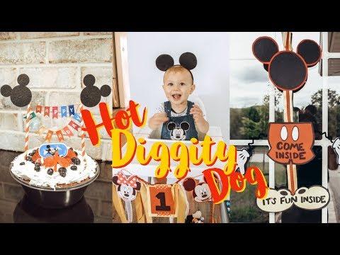 DIY MICKEY MOUSE 1st BIRTHDAY VLOG | Ashley Hunt