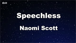 Speechless - Naomi Scott Karaoke 【No Guide Melody】 Instrumental