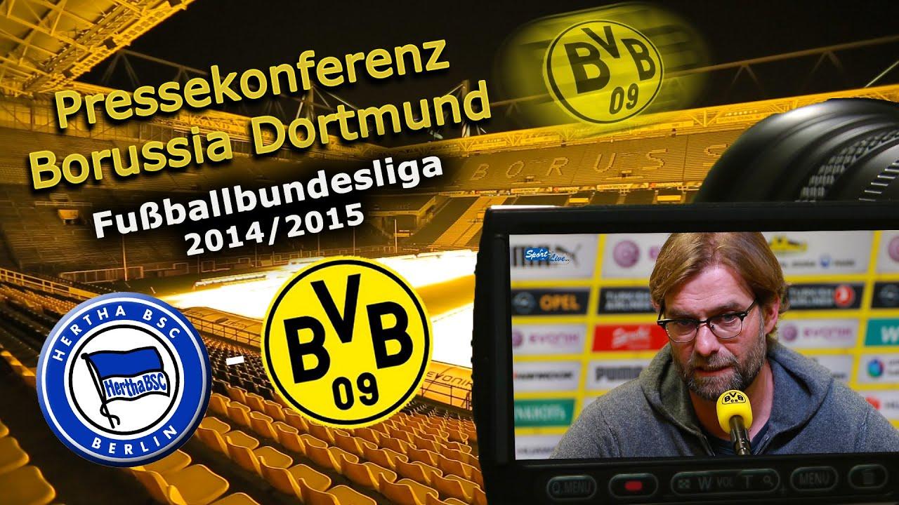 Hertha BSC - Borussia Dortmund : Bundesliga-Pk mit Jürgen Klopp