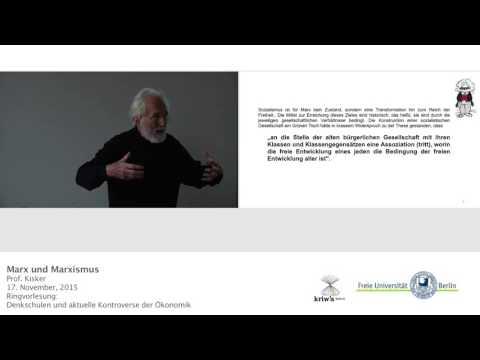 Marxistische Ökonomik - Prof. Klaus Peter Kisker @FU-Berlin