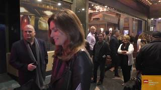 Cindy Crawford greets fans outside the premiere of  The Donna Summer Musical
