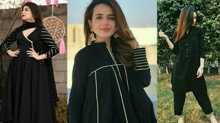 simple black dress design 2020 | black dresses | beautiful black dress | black kurti designs