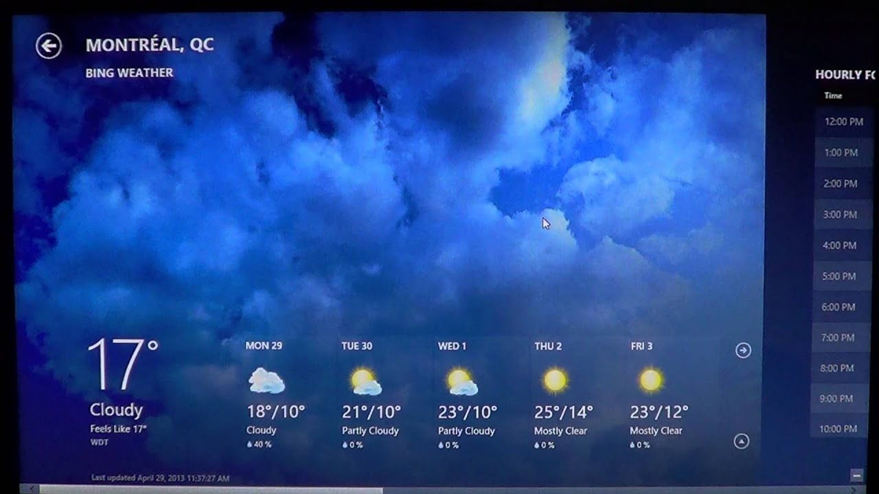 Windows 8 Add Remove Cities In The Bing Weather App Youtube