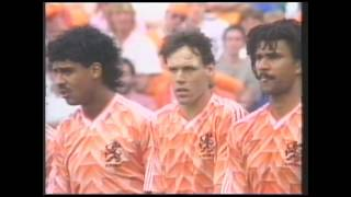 1990 World Cup - Holland preview with Gullit, Van Basten and Rijkaard montage  - BBC