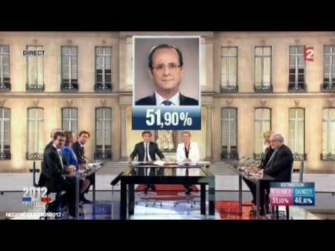 François Hollande - Président de la République - 06 MAI 2012 - FRANCE 2 HD