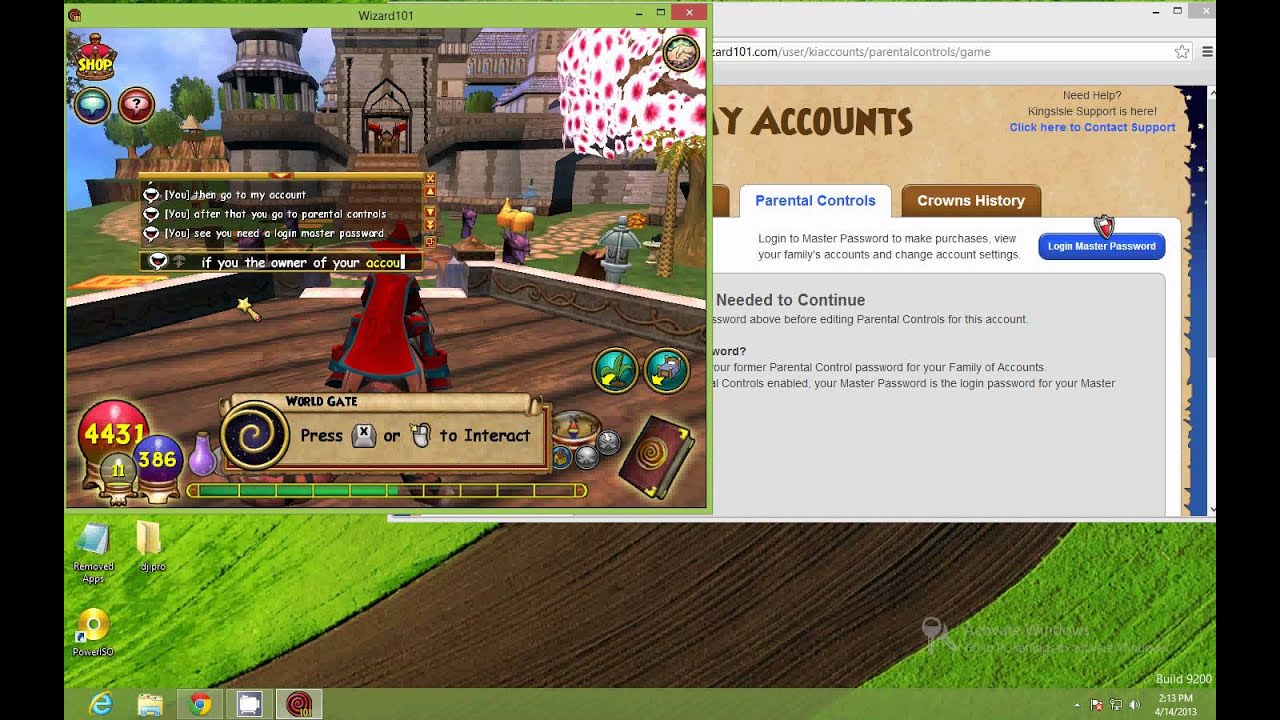 how to change chat in wizard101