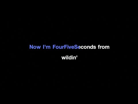 Rihanna - Four Five Seconds feat. Kanye West and Paul McCartney Karaoke
