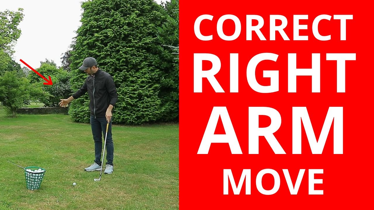 HOW TO USE YOUR RIGHT ARM CORRECTLY IN THE GOLF SWING