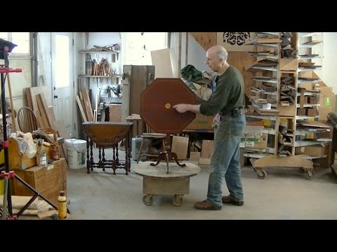 Restoring a Tilt-Top Table - Thomas Johnson Antique Furniture Restoration