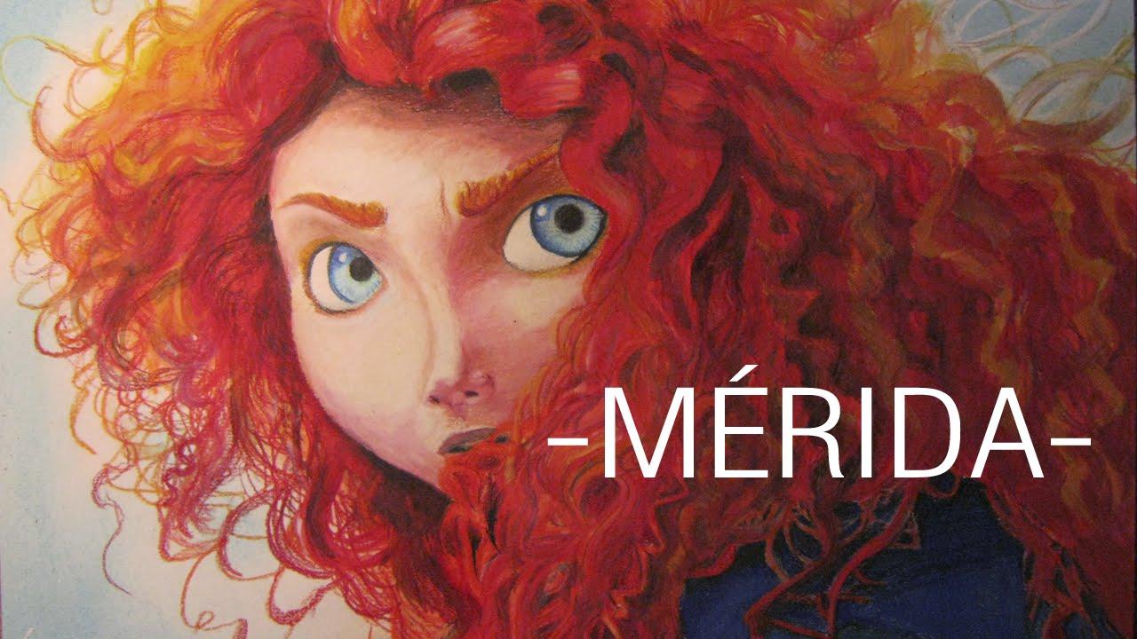 Merida Para Colorear: Drawing Mérida - YouTube