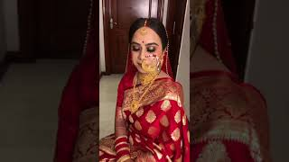 Pahadi Bride from Uttarakhand for her reception ! Makeup by Parul Garg