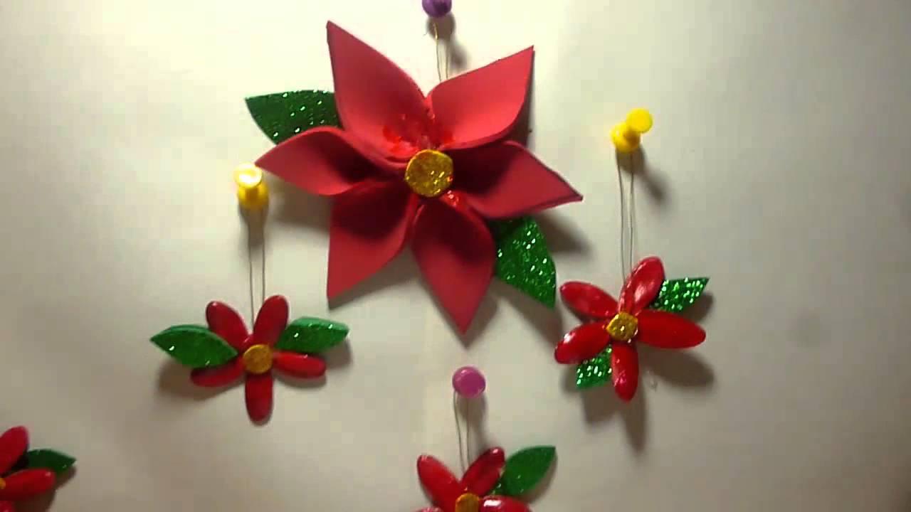 Decoraciones para navidad tres maneras de hacer flores de for Decoraciones rusticas para navidad