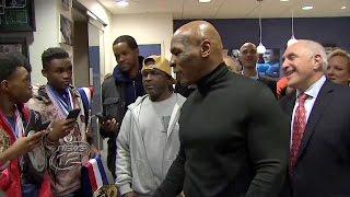 Mike Tyson Surprises Yonkers PAL Boxers