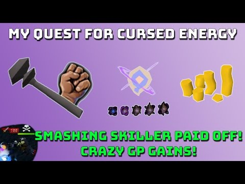 Loot from Cursed Energy Bot Killing [Runescape 3] Smashing Skiller