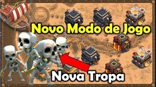 Clash Of Clans - NOVA TROPA E NOVO MODO DE JOGO! MEGA ATUALIZAÇÃO