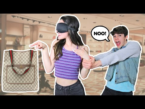 Buying EVERYTHING My SISTER TOUCHES Blindfolded **FUNNY 24 Hour Challenge**   Jentzen Ramirez