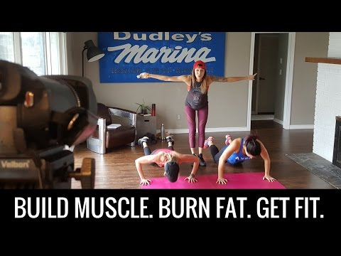 15 Minute Muscle Building, Fat Burning, HIIT Home Workout