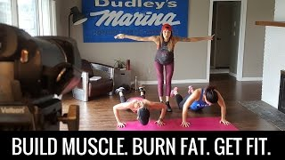 15 Minute Muscle Building, Fat Burning, HIIT Home Workout (Intense Body Toning)