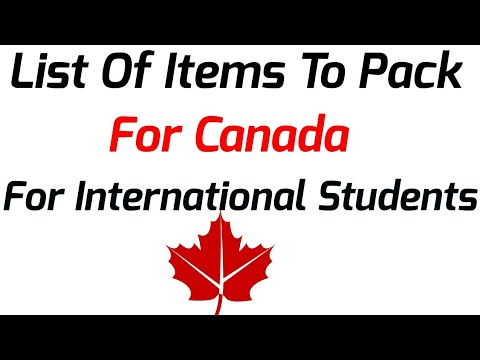 Student Packing Guide For Canada  (Hindi) List Off All Items FOR Canada
