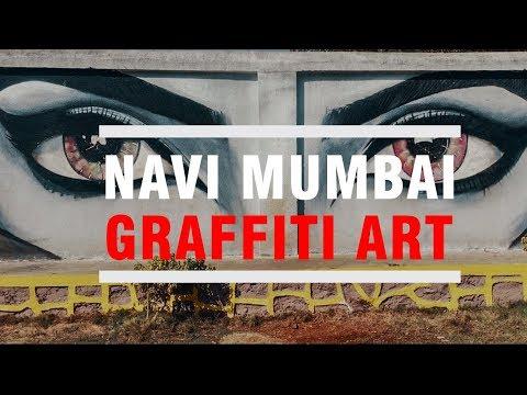 Navi Mumbai Graffiti Art || Navi Mumbai Guruji.