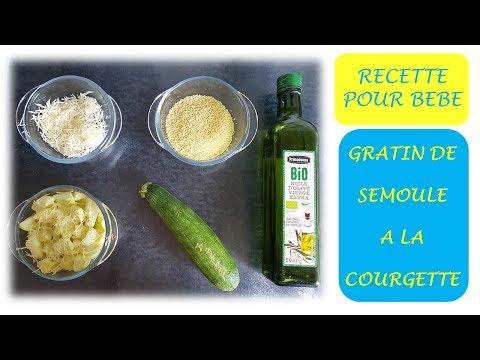recette-bébé---gratin-de-semoule-à-la-courgette