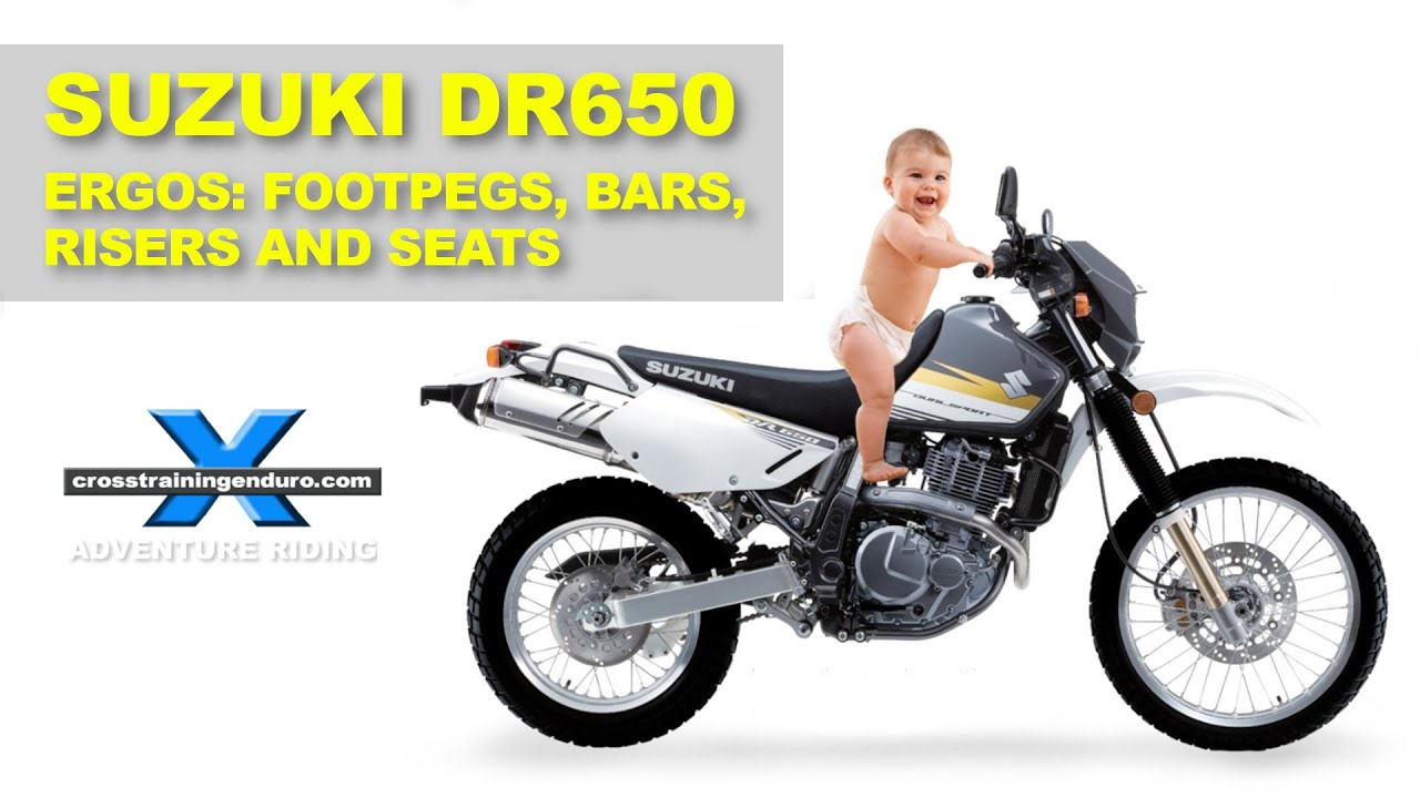 ffrc dr650 series 7 ergos seat lowering footpegs bars risers
