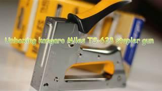 Unboxing kangaro Miles TS-623 stapler gun