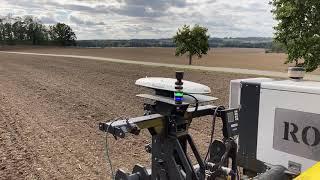 Setí pšenice ozimé z pohledu polního robota Robotti.