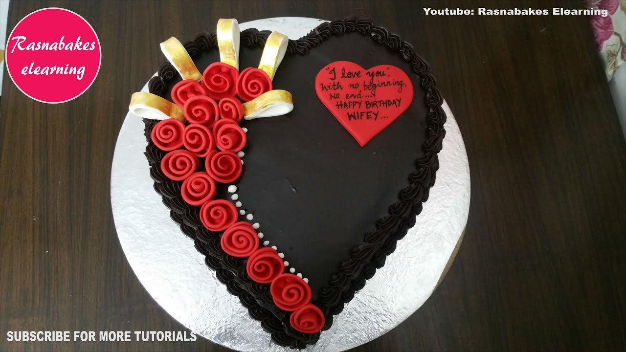 Best Birthday Gift Cake Design Ideas For Wife Decorating Tutorial Video At Home Heart Shape Youtube
