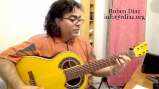 Learn 4 Phrases in Solea por Buleria in 3 keys (1) de Lucia´s style / guitar lesson by Ruben Diaz
