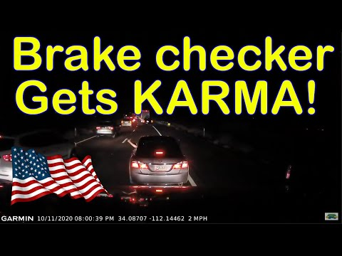 A Day in The Life of an American Truck Driver - Road Rage, Brake Check, Car Crash, Instant Karma USA - Ruslar.Biz