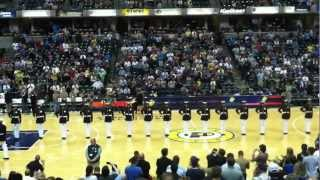 US Marine Corps Silent Drill Platoon at Pacers Halftime 4/19/12