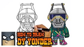 How to Draw DJ Yonder | Fortnite | Awesome Step-by-Step Tutorial