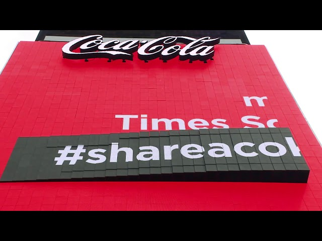 Coca-Cola Refreshes Times Square Sign