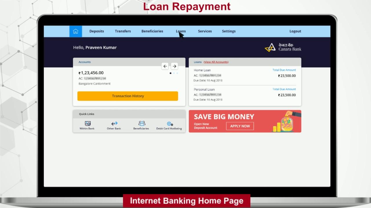 internet banking canara bank app