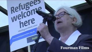 Carol Turner Stop the War Coalition - Refugees Welcome Here - 12.09.16