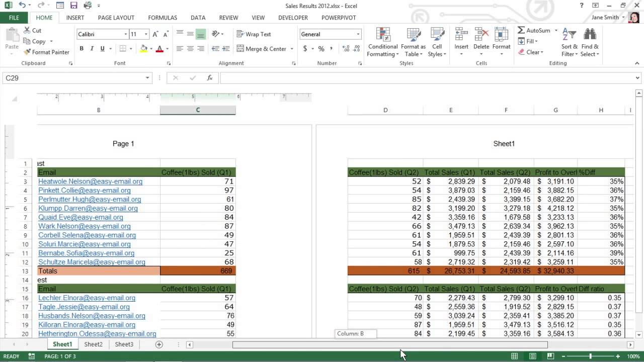 Insert Headers or Footers into Your Excel 2013 Document For – Center Worksheet Excel