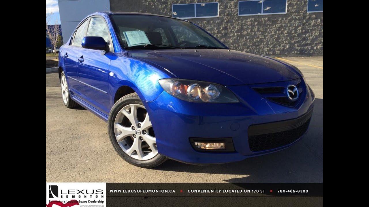 Wonderful Pre Owned Blue 2008 Mazda Mazda3 2008.5 Auto GT Review Spruce Grove Alberta