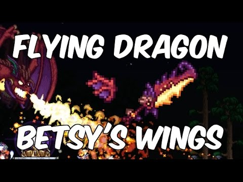 Terraria 1.3.4 FLYING DRAGON & BETSY'S WINGS! | Winners Announced! | PC