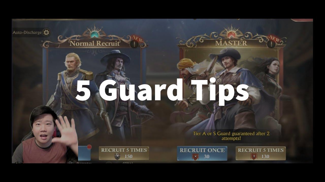 Guns of Glory: 5 Guard Tips by Shinchi42