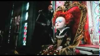 "Alice in Wonderland the bloody red queen shouts ""Idiot!"""