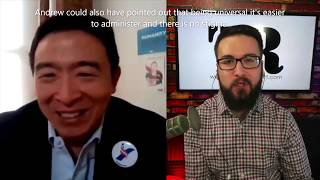 Andrew Yang: Freedom Dividend's Impact On Social Benefit Programs and How To Pay For It