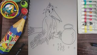 How To Draw Crow For Kids