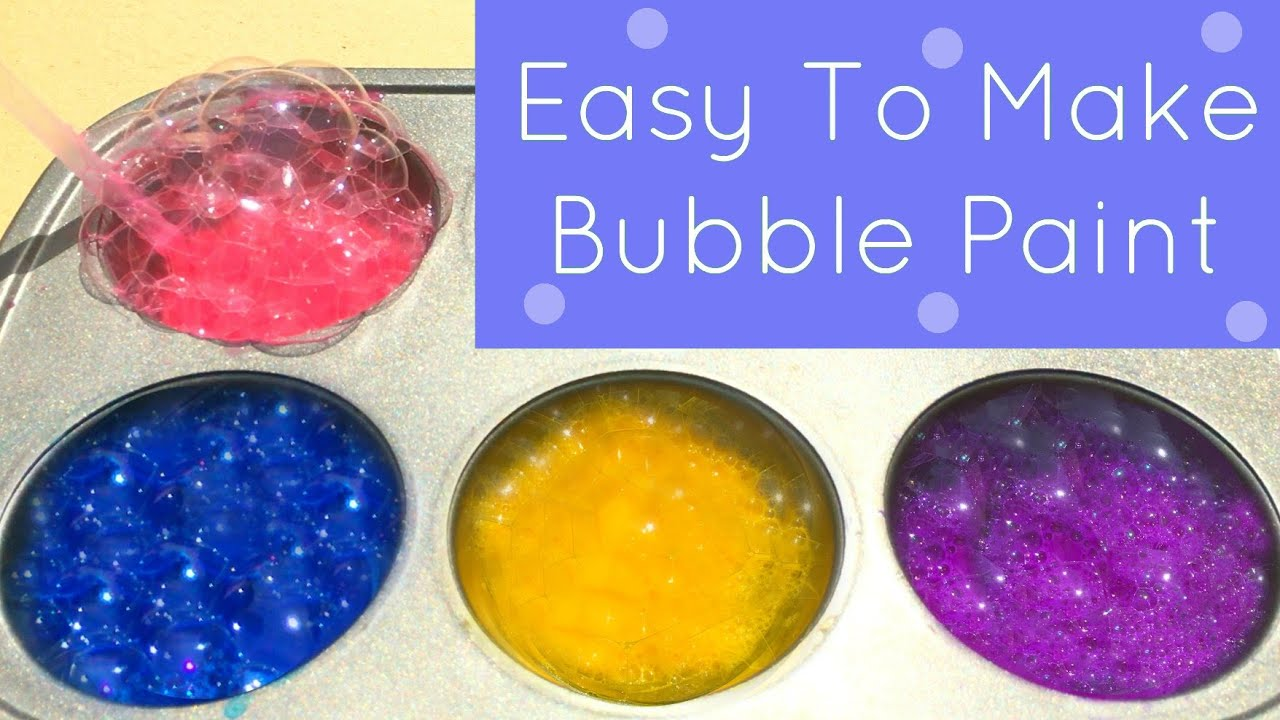 easy to make bubble paint for toddler and preschool art youtube