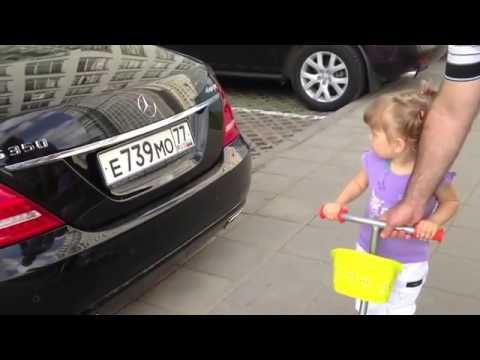 Girl Ale Knows All Brands Of Cars Cute Russian Two-Year Can Name Every Car In A Parking Lot